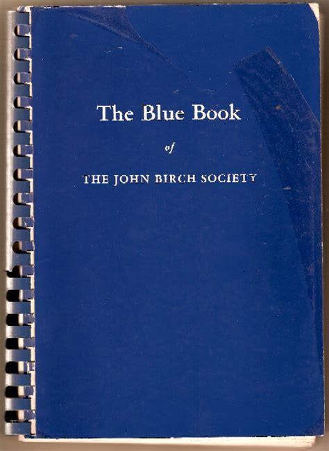 the blue book series 1 john birch society book 1