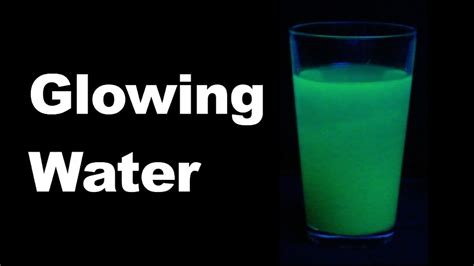 how to make glowing water cool science experiment 7 glowing water