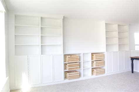 ikea built in bookshelves diy built ins from ikea bookcases orc week 2 bless er