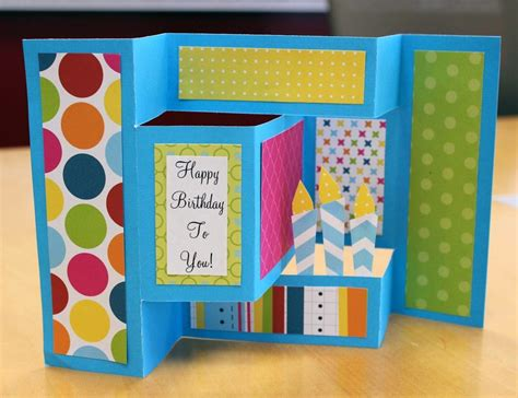 how to make birthday card for a dash of scraps how to make a birthday pop up card