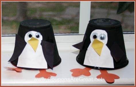 penguin crafts plastic cup penguin craft for