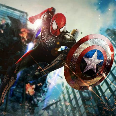 spiderman or captain america tap to see more civil war