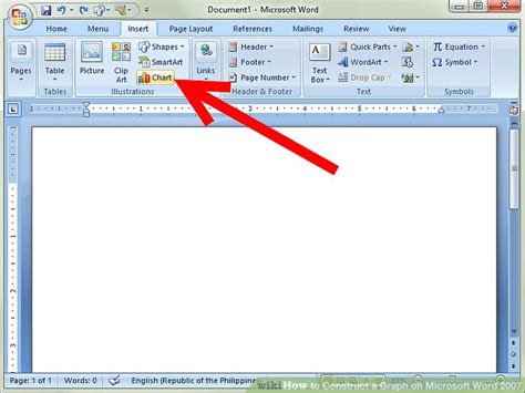 on microsoft word how to construct a graph on microsoft word 2007 7 steps