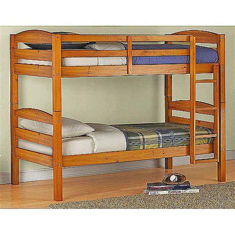 wood frame bunk beds mainstays bunk bed walmart