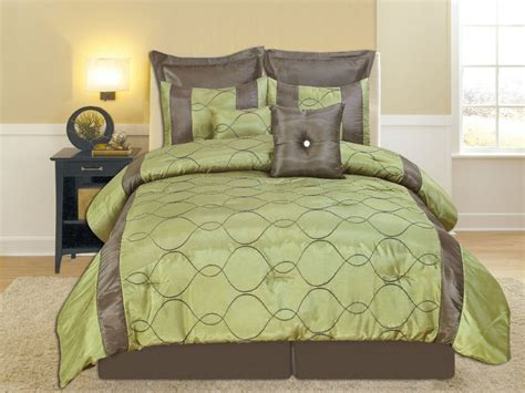 comforter set green brown and green comforter set casual style bedroom with