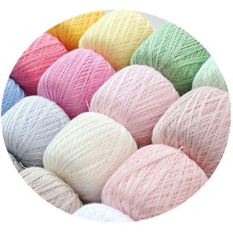 yarn in knitting 50g 8 100 cotton lace yarn knitting yarn threads to knit