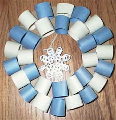 winter construction paper crafts winter wreath