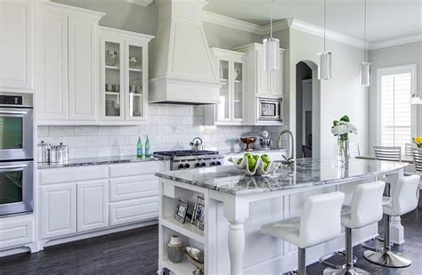 white kitchen cabinets gray granite countertops grey granite countertops kitchens white cabinets