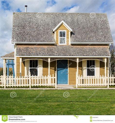fashioned house tiny house stock photo image 63029667