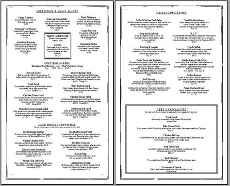 free printable template restaurant menus simple menu