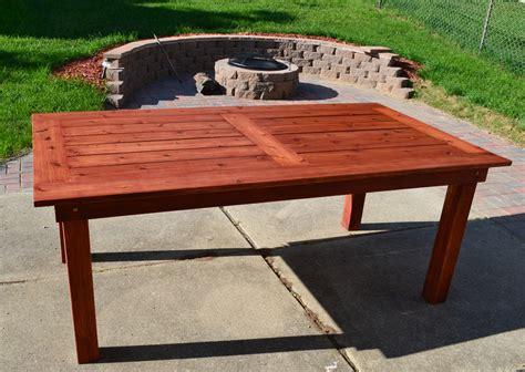 cedar patio table plans bryan s site the finished diy cedar patio table
