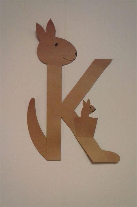 kangaroo craft for preschool letter k k is for kangaroo alphabet