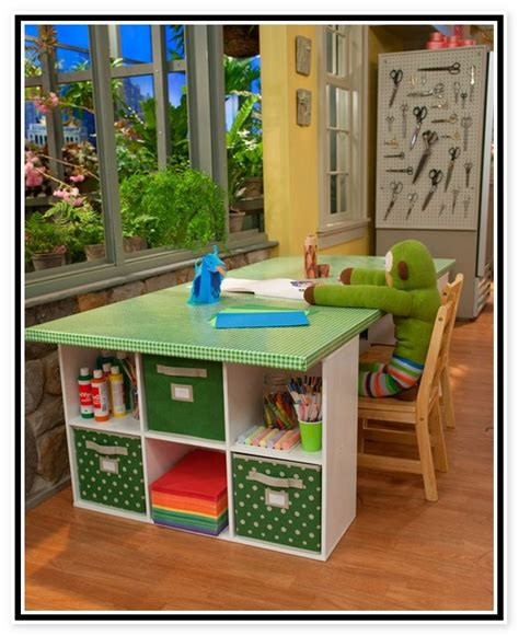 kid craft table with storage craft table for designs materials and complements