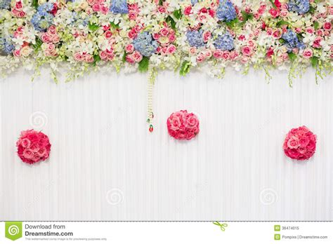 decorations images background beautiful flower wedding decoration royalty free stock