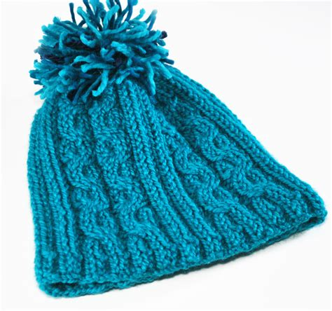knitting rubber sts blue reeds cable hat 171 knitting board