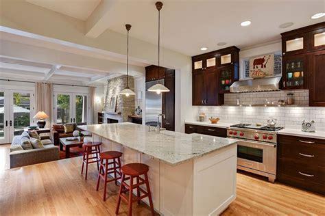 kitchen granite island 50 gorgeous kitchen designs with islands designing idea