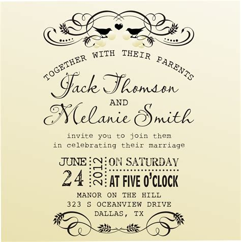 vintage rubber sts for wedding invitations diy wedding invitation vintage design typewriter font