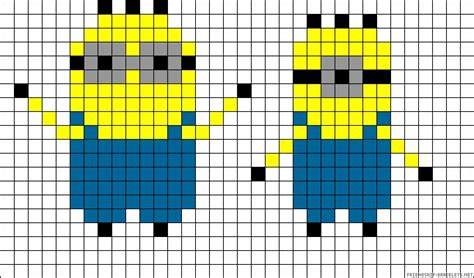 minion perler bead patterns minions perler bead pattern arts and crafts