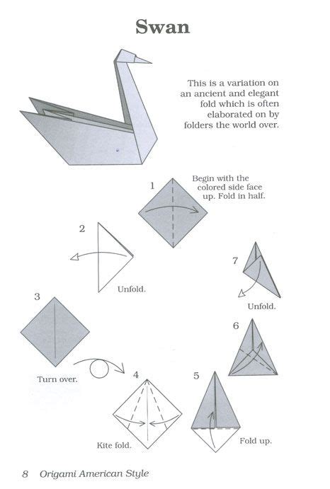 origami 3d swan step by step best 25 origami swan ideas on paper swan