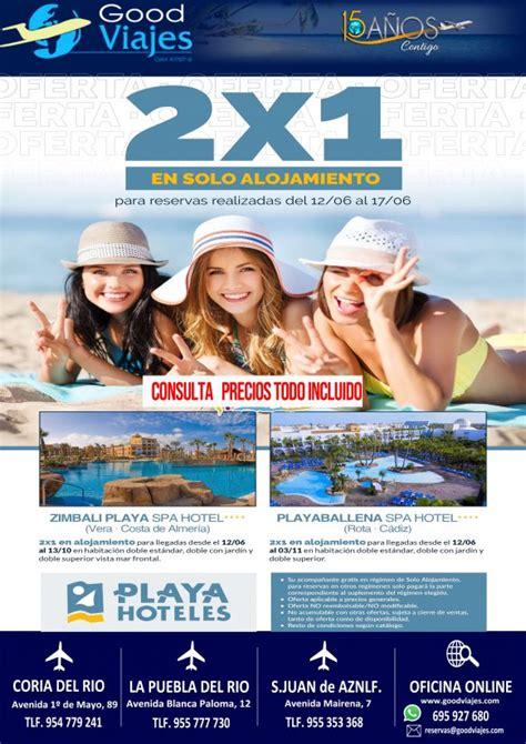 ofertas ultima hora apartamentos playa oferta 2x1 playa hoteles good viajes