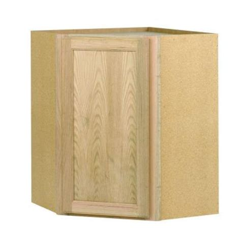unfinished wood cabinet doors home depot 24x30x24 in corner wall cabinet in unfinished oak