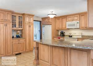 Kitchen Cabinet End Shelf by Tewksbury Kitchen Remodel With Maple Cabinets Walnut Glaze