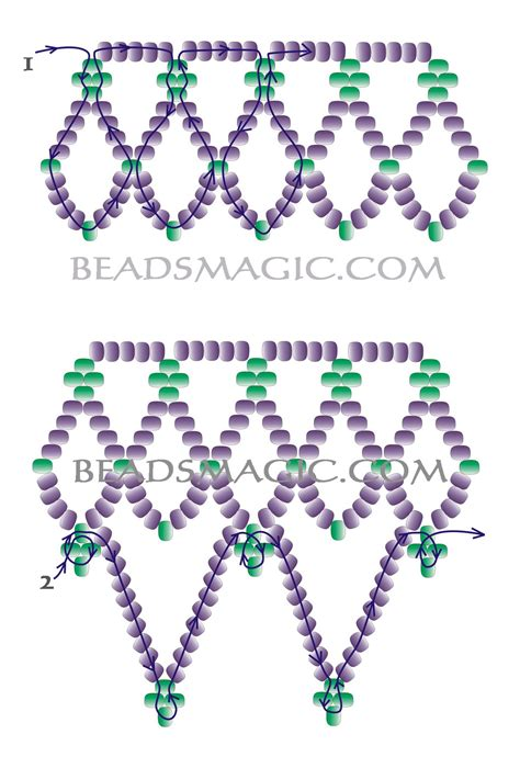 beading patterns for free pattern for pretty beaded necklace junona magic