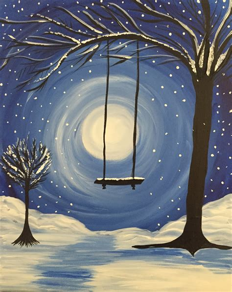 paint nite winter whimsical winter by tammy tavarone paint nite