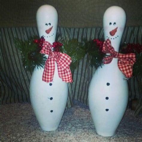 bowling pin craft projects bowling pin snowmen craft ideas