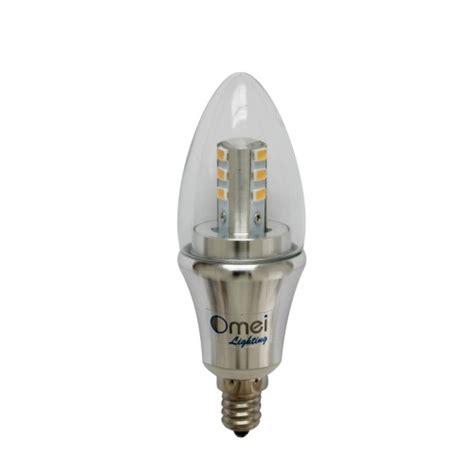 led light bulbs candelabra base 60w led candelabra bulb daylight dimmable 6 pack omailighting