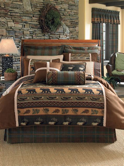 rustic comforters sets rustic bedding sets lodge log cabin bedding