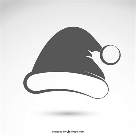 santa hat black black and white santa claus hat vector free