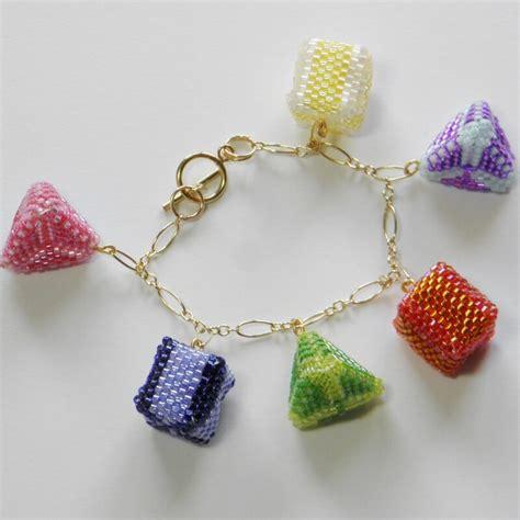 beaded charms 3d peyote charm bracelet pattern beadflowers dean