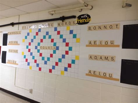 scrabble classroom theme 135 best images about bulletin boards on