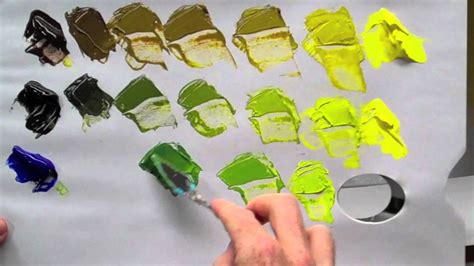 acrylic paint how to make black how to mix green acrylic paint
