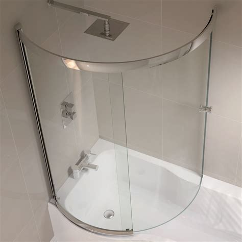 april p shape sliding bath screen left or right hand