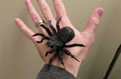origami tarantula 13 incredibly creepy origami spiders