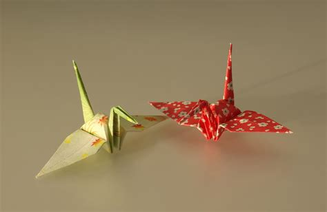 cranes origami pin origami grue on