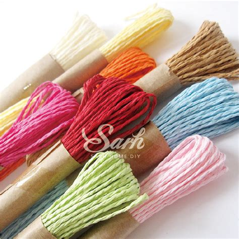 twisted craft paper 10m one 9 colors to choose diy twisted paper raffia