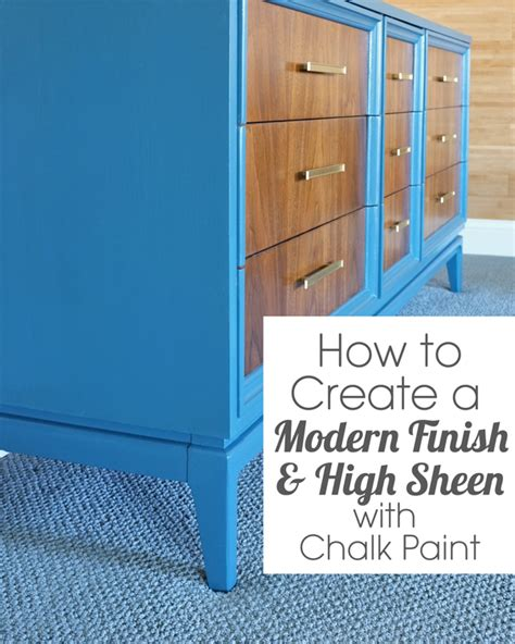 diy chalk paint flat or satin how to get a modern finish with chalk paint