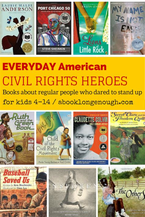 civil rights picture books everyday american civil rights heroes books about