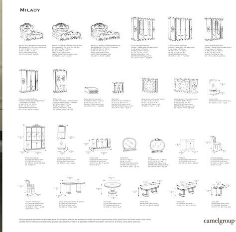 bedroom furniture dimensions standard bedroom furniture dimensionsmilady walnut classic
