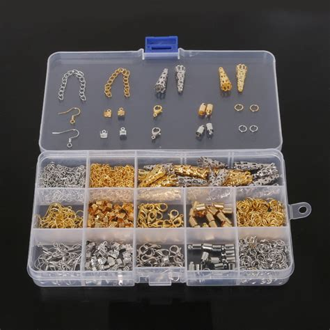kit to make jewelry diy jewelry findings kit bead caps earring hook lobster