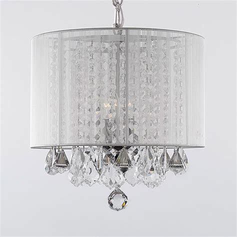lshade chandelier g7 white 604 3 gallery chandeliers with shades