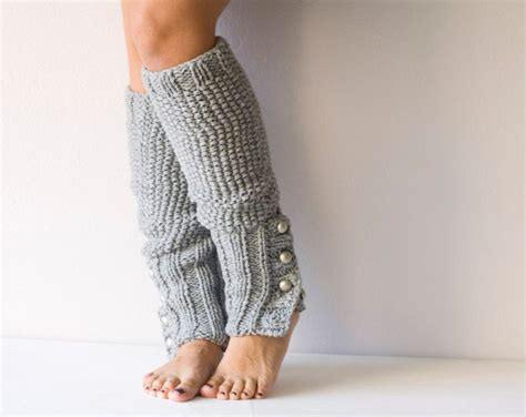 how to knit leg warmers grey knit leg warmers with buttons
