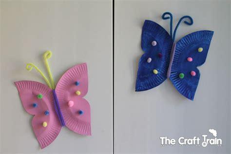 butterfly paper plate craft paper plate butterflies
