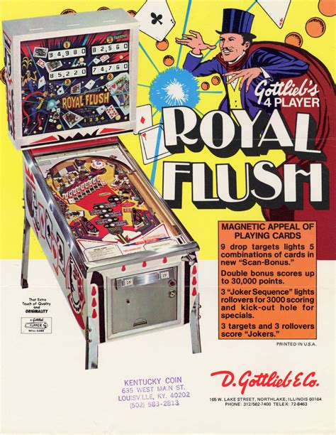 company flyer design the arcade flyer archive pinball machine flyers royal