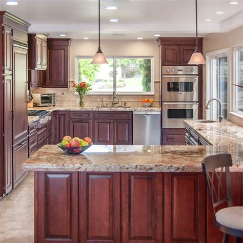 kitchen ideas cherry cabinets traditional kitchen design ideas pictures remodel and decor glazed cherry cabinets like how