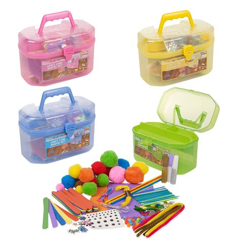 craft sets 127 children s arts craft set carry handle
