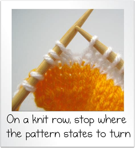 knitting turn how to wrap and turn and knit rows